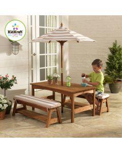Kidkraft - Buitenset met kindertafel en bankjes