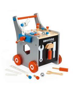 Janod - Magnetische Doe-Het-Zelf loopwagen Brico'Kids