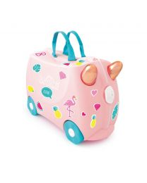 Trunki - Flamingo Flossi - Ride-on en reiskoffer - Roze
