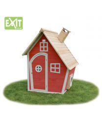 Exit - Fantasia 100 Rood - Houten speelhuisje