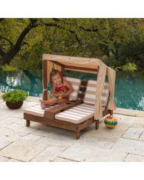 Kidkraft - Tweepersoons kinderligstoel met bekerhouders - Hout