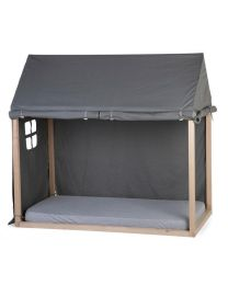 Childhome -  Huis Bedframe Cover - 70x140 cm - Anthraciet