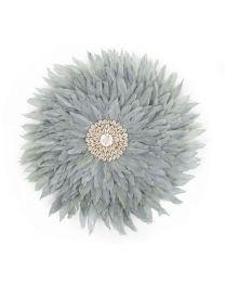 Childhome - Juju Feathers 30 Cm - Licht Grijs - Muurdecoratie