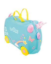 Trunki - Una Unicorn - Ride-on en reiskoffer - Blauw
