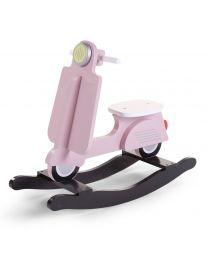 Childhome - Scooter Pink/Zwart - Houten schommelpaard