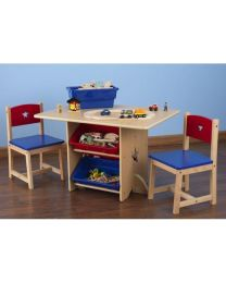 Kidkraft - Kindertafel en 2 kinderstoelen met sterren