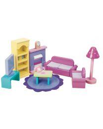 Le Toy Van - Woonkamer Sugar Plum - Voor poppenhuis