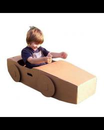 Paperpod - Kartonnen Auto Bruin