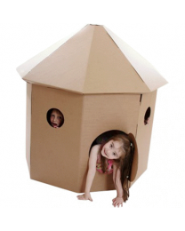 Paperpod - Kartonnen Hut Bruin