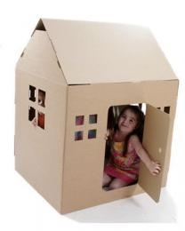 Paperpod - Kartonnen Speelhuis Bruin