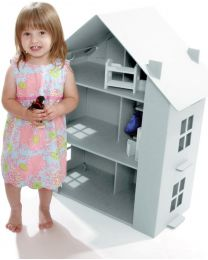 Paperpod - Kartonnen Poppenhuis Wit