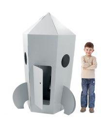 Paperpod - Kartonnen Raket Wit