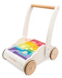 Le Toy Van - Regenboog wolk stapper - Houten loopauto