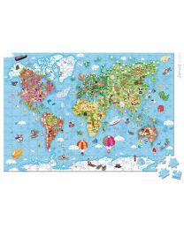 Janod - Puzzel Wereldkaart