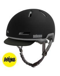 Nutcase - Tracer Midnight Black Mips Matte - M/L - Fietshelm (56-60 cm)