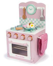Le Toy Van - Kookfornuis met oven - Roze - Houten kinderkeuken