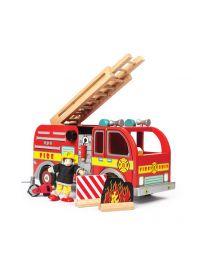 Le Toy Van - Brandweerwagen - Houten speelset