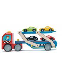 Le Toy Van - Koerswagen transporter - Houten speelset