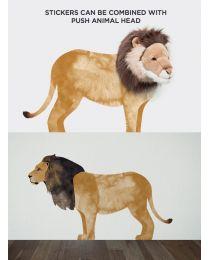 Wild & Soft - Muursticker leeuw